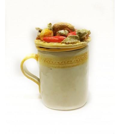 Tazza con tappo e filtro peperoncini