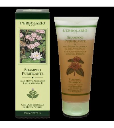 Shampoo Purificante alla Menta e alla Vitamina E L'Erbolario