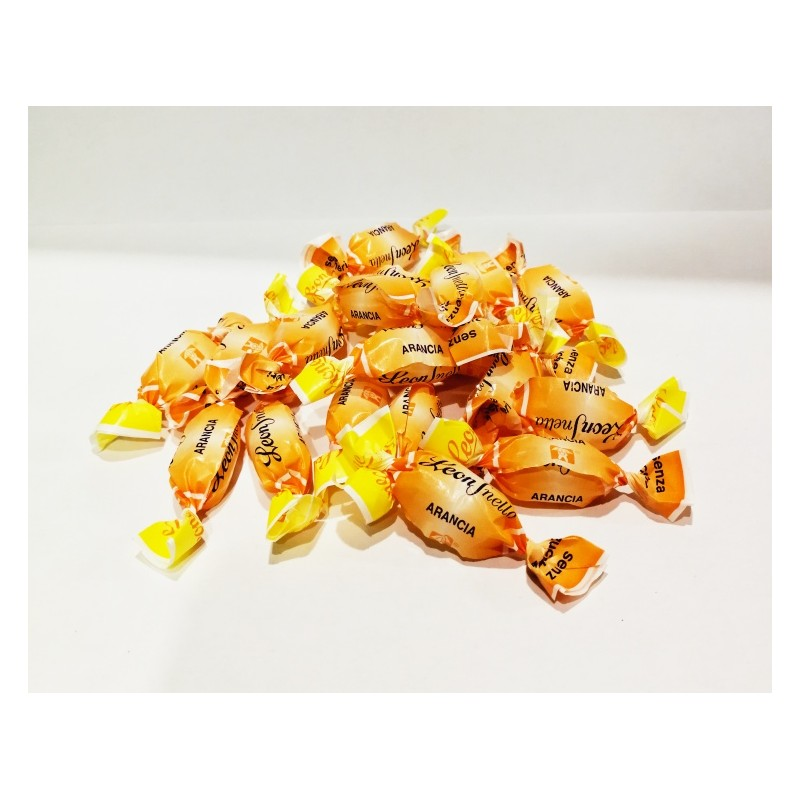 Caramelle senza zucchero all'arancia